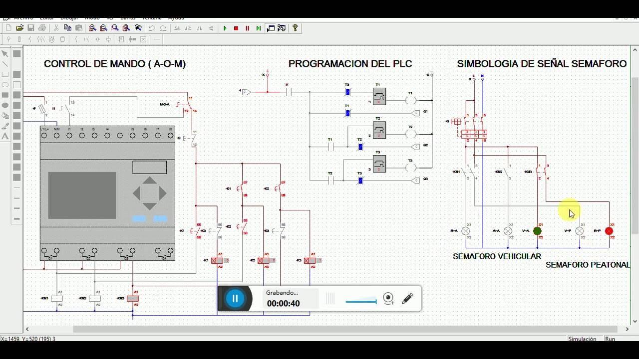 CADe SIMU v2.0 con PLC (Simulación de un SEMÁFORO manual o
