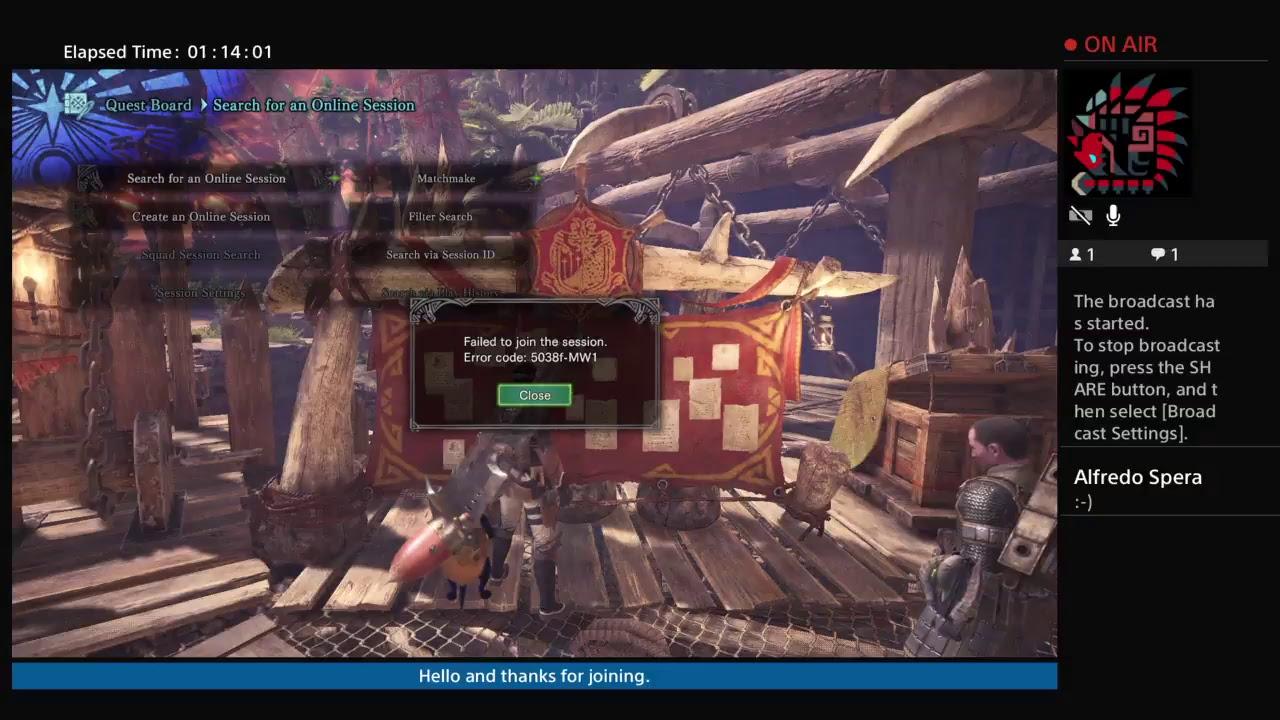 Monster Hunter World Solo play offline (psn is down)