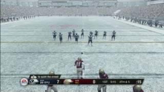 NCAA Football 09 Xbox 360 Gameplay - Full Drive