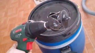 Циклонный фильтр из канализационных труб