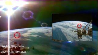 UFO NASA/ESA 2015 2 Sightings ufo ISS space station Shape shifting Ufo ISS live HD