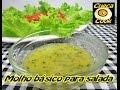 Molho básico e fácil para saladas - Dicas de minuto do Cueca Cook # 003