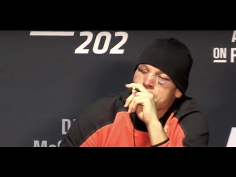 Nate Diaz Vapes Marijuana (CBD) at UFC 202 Press Conference