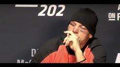 Nate Diaz Vapes Marijuana (CBD) at UFC 202 Press Conference