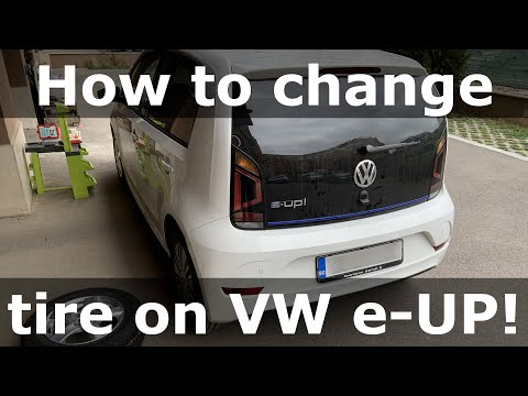 How to change tire on Volkswagen e-UP!