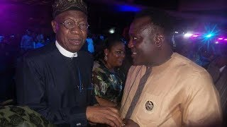 SAHEED OSUPA MEET LAI MUHAMMED AND SULE ALAO MALAIKA AND ATAWEWE @ AFRIMA AWARD 2017