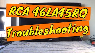 rca 46la45rq tv repair no picture no power troubleshooting