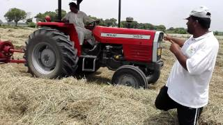Rhode grass hay Raking,Baling & Loading by Qasim- Pakistan