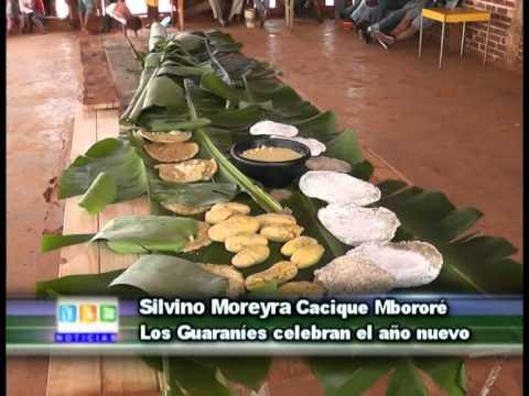 21-09-15 Silvino Moreyra Cacique Mbororé  Los Guaraníes celebran el año nuevo