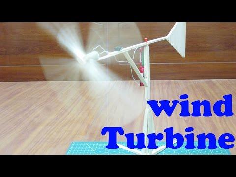 How to make wind turbine using popsicle sticks – homemade windmill