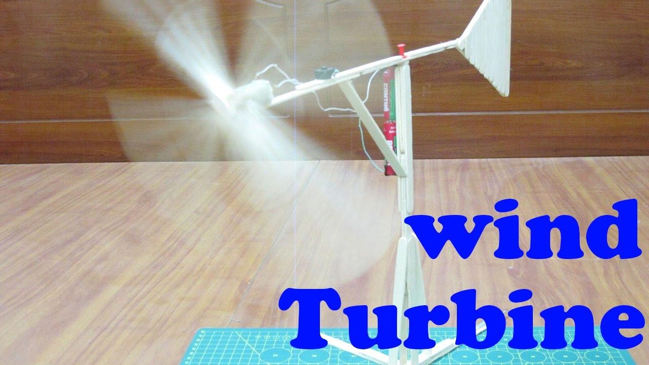 How To Make Wind Turbine Using Popsicle Sticks Homemade