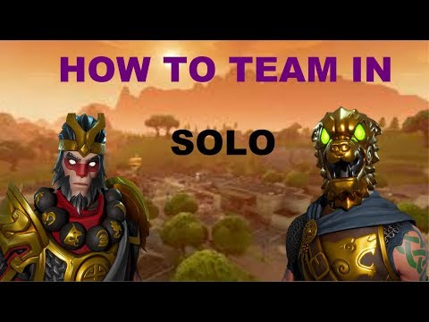 HOW TO TEAM UP IN SOLO EVERY GAME!! Fortnite: Battle Royale