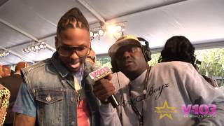 Bar None On Red Carpet For BET Hip Hop Awards With V-103