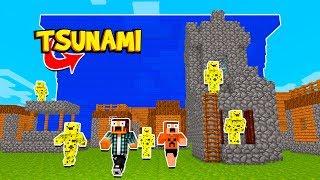 Minecraft: TSUNAMI VS ARMADURA DE ESPONJA !! ( Batalha de Mods )