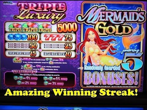 Big Slot Win!  Mermaid's Gold (Bonus Round) from Fallsview Casino, Niagara Falls, Canada