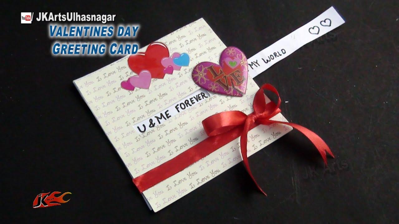 Love Slider Card  Valentines day DIY Craft  JK Arts 838  YouTube