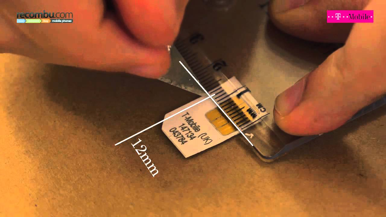 How To Make A Micro Sim Card Youtube