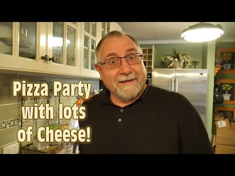 Pizza party with lots of yummy Cheese!