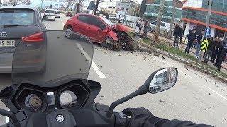 Trafikte Kamerama Takılanlar #48 | Kaza Yaptım! | Bu Seri Komple Trafik Kazası | Motovlog |