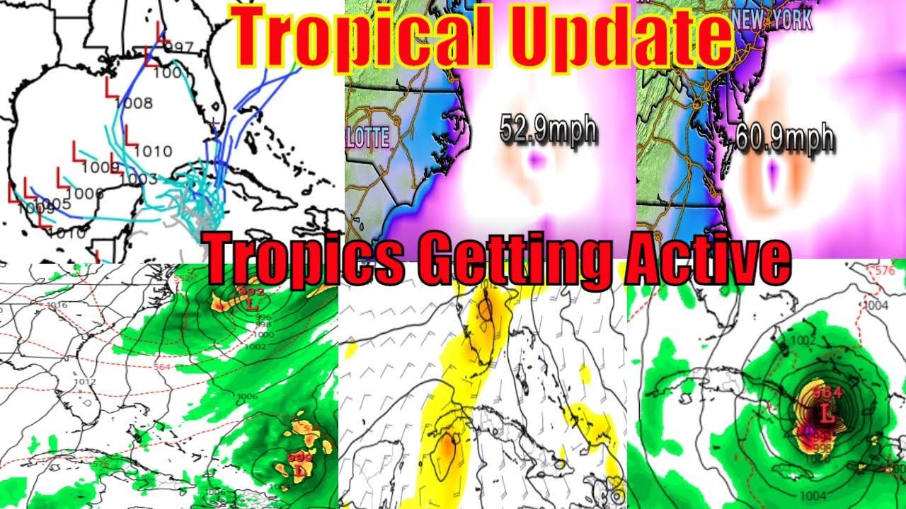 Tropical Update Today - Gulf Storm, East Coast Storm, Hurricane Zeta Update - WeatherMan Plus