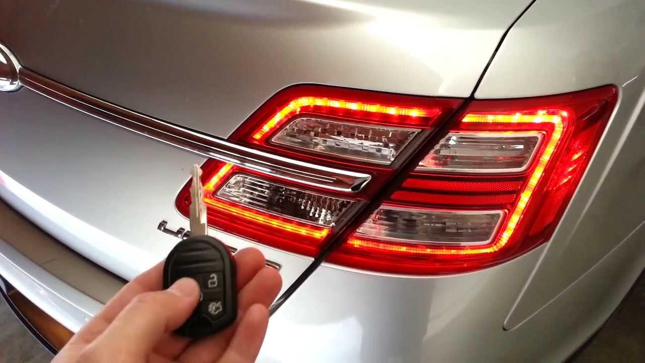 2013 Ford Taurus Limited Sedan - Testing New Key Fob Battery - Parking Lights Flashing - YouTube & 2013 Ford Taurus Limited Sedan - Testing New Key Fob Battery ... markmcfarlin.com