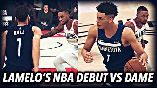 LaMelo Ball MyCareer EP 2 | Intense NBA Debut vs Damian Lillard & The Blazers | NBA 2K20