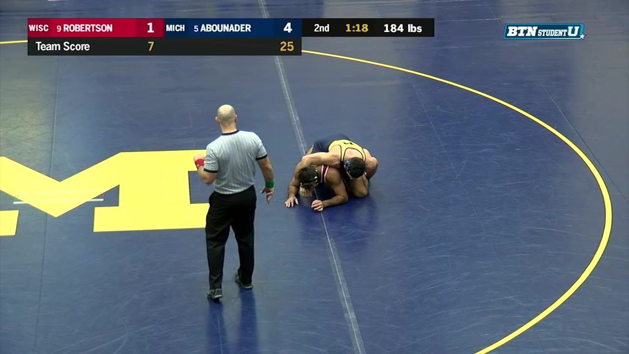 Big Ten Wrestling: 184 LBs - Michigan's Domenic Abounader ...