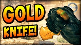 new gold knife pistol call of duty ghost cod ghosts multiplayer gameplay