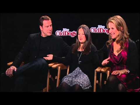 Old Dogs John Travolta, Kelly Preston & Ella Bleu Travolta Exclusive Interview