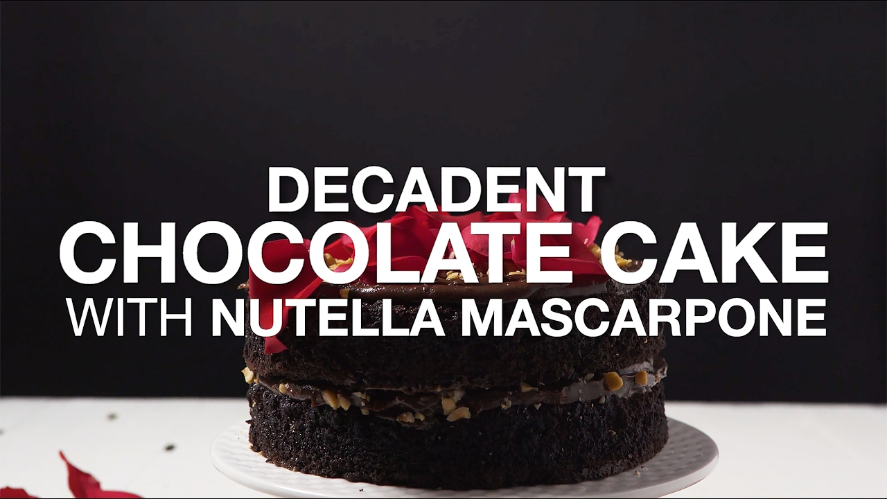 Delicious Decadent Chocolate Cake For Valentine S Day Youtube