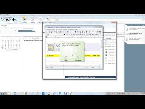 Como usar microsoft works