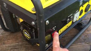 How to start a 4,000 Watt Generator