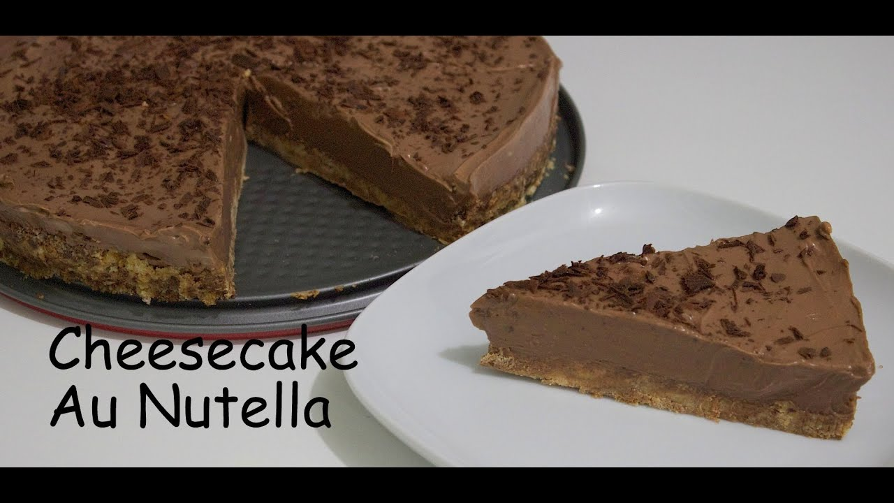 recette cheesecake sans cuisson au nutella youtube. Black Bedroom Furniture Sets. Home Design Ideas