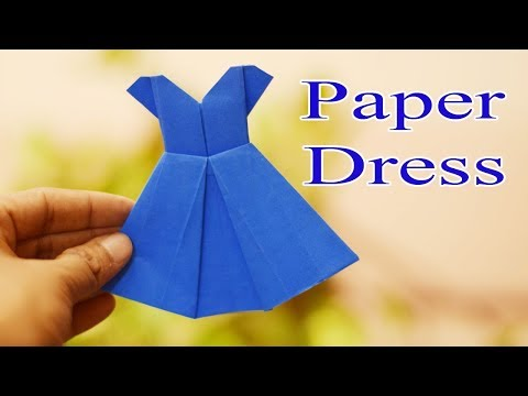 Origami dress: How to make paper origami dresses - Origami wedding dress| DIY Origami Paper Crafts
