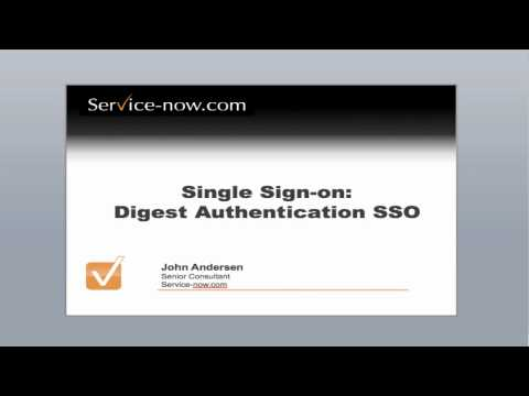 Digest Authentication Single Sign-on with Service-now.com