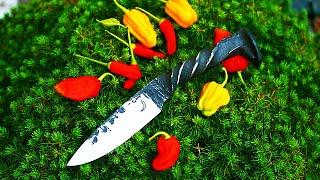Trollsky knifemaking - Knife made from old railroad spike