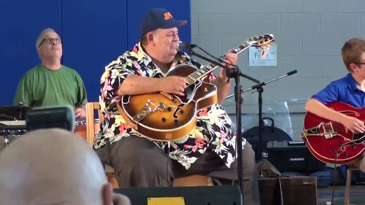 Caleb Coots Playing I'll See You In My Dreams with his grandad Eddie  Pennington
