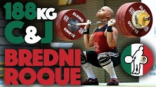 Bredni Roque (69) - 148kg Snatch + 188kg Clean and Jerk Pan Am Record