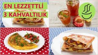 En Lezzetli 3 Kahvaltılık: Lavaş Tost - Peynitli Omlet - Buzlu Çay