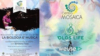 Ph.D Emiliano Toso - La biologia è musica - Conferenza e concerto con pianoforte - Musica a 432 Hz