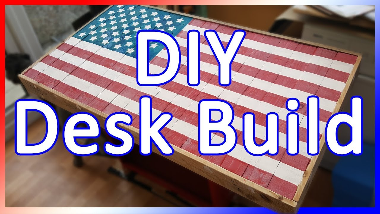 Usa American Flag Desk Build Using Pallet Wood