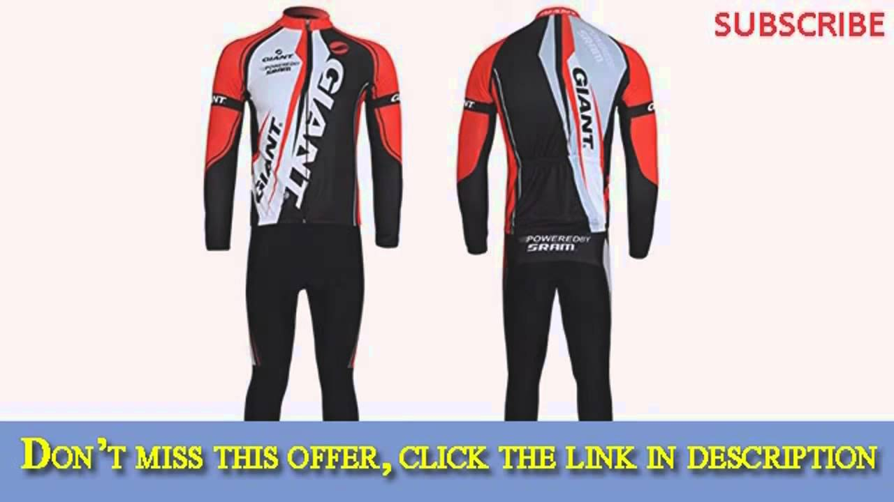 Get TOMSHOO Cycling Clothing Suit Spring Autumn Men Cycling Clothing Set Top 684cae259