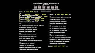 Seb - Rainy Night In Soho (backing track with chords & lyrics)