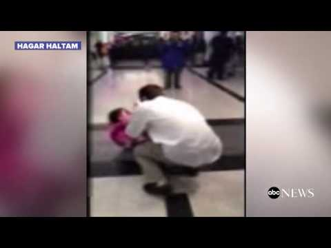 4-year-old Syrian girl reunites with family in US