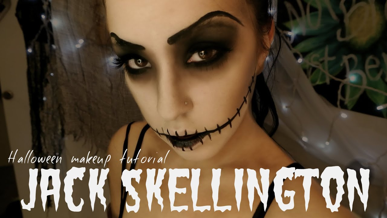 Jack Skellington | Halloween Makeup Tutorial - YouTube