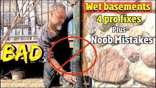 4 Solutions to fix a wet basement plus Noob Mistakes
