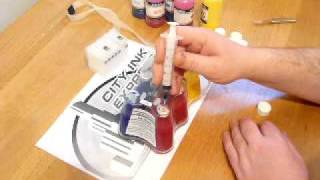 Part one how to fill and prime a ciss for 5 colour cartridge