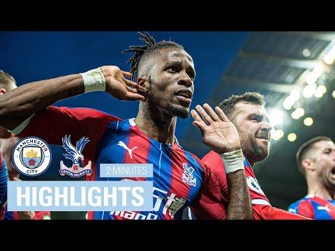 Manchester City 2-2 Crystal Palace   2 Minute Highlights