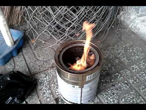 DIY bếp củi không khói 2