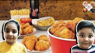 ASMR KFC CHICKEN CRUNCHY EATING SOUND - SIBLINGTALK ASMR FIRST ATTEMPT